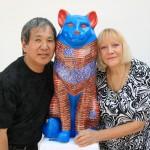Susumu & Rebecca with their Cat